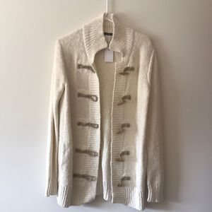 Jcrew Linen Toggle Cardigan